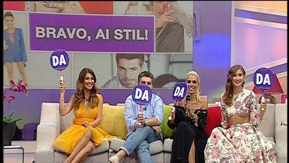 """Iulia Albu, sarbatorita in direct la """"Teo Show""""! Fashion editorul de la emisiunea """"Bravo, ai stil"""" a fost  socat de buchetul de flori pe care l-a primit"""
