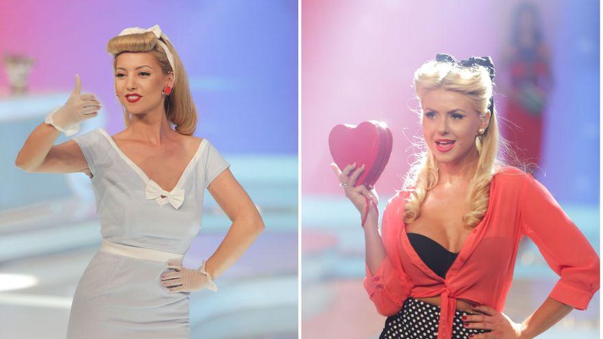 """Cine a purtat mai bine tinuta """"pin up"""", Alexandra sau Andra?"""