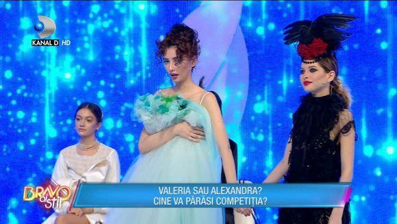 Alexandra sau Valeria? Cine a parasit competitia ''Bravo, ai stil''?