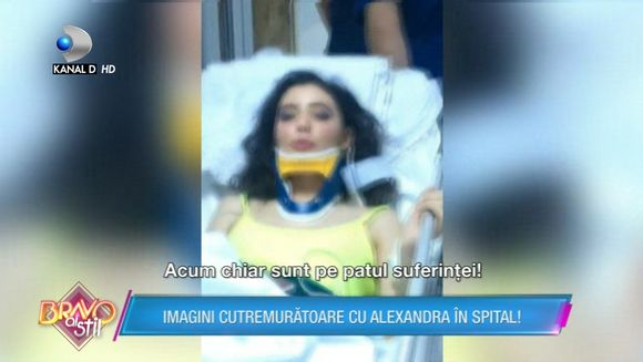 Imagini cu puternic impact emotional! Alexandra a povestit totul despre accidentul pe care l-a suferit