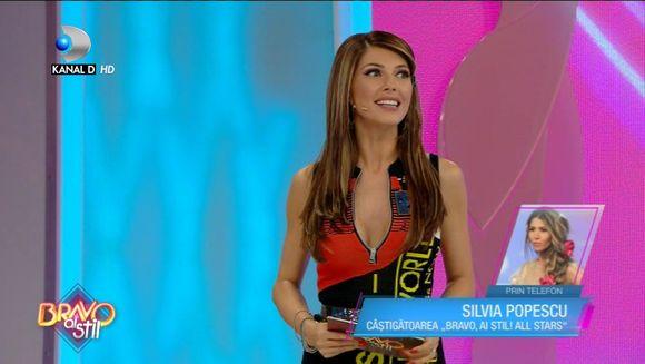 Silvia Popescu a intrat in direct prin telefon la ''Bravo, ai stil'' si a facut praf o concurenta: ''Ar trebui sa ii fie teama''