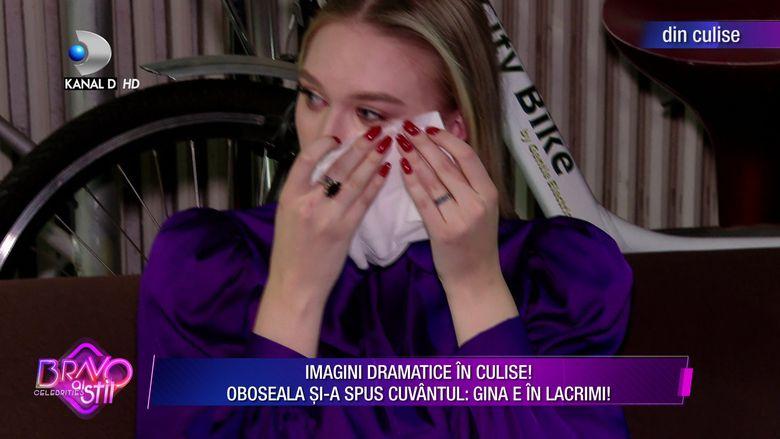 Gina Chirila, imagini din culise care explica de ce lipseste din emisiune.  Bravo, ai stil Celebrities i-a dat bilet de invoire