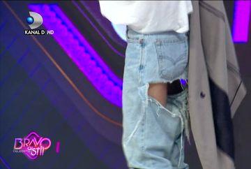 O concurenta ''Bravo, ai stil Celebrities'' a venit cu pantalonii RUPTI in fund! Ce explicatie a avut!