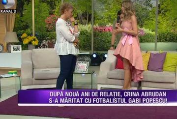 Dupa noua ani de relatie, Crina Abrudan s-a maritat cu fotbalistul Gabi Popescu! Fosta stirista a facut cele mai inedite dezvaluiri de la nunta sa