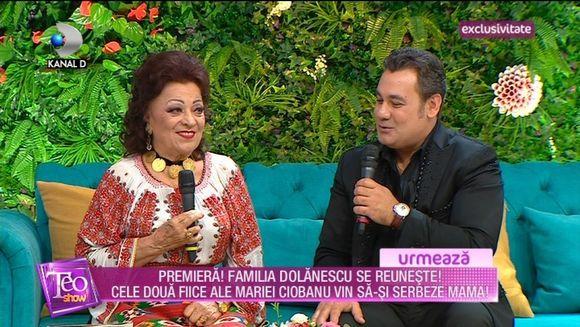 Premiera in televiziune! Toti copiii Mariei Ciobanu s-au reunit la Teo Show pentru a-si aniversa mama! Cati ani a implinit celebra interpreta de muzica populara