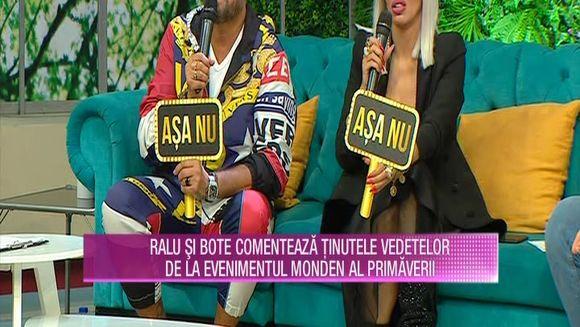 Catalin Botezatu si Raluca Badulescu, comenteaza tinuteke vedetelor de la evenimentul monden al primaverii