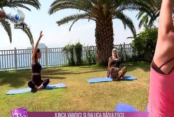Ilinca Vandici si Raluca Badulescu, lectii de yoga in Bodrum!