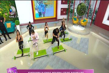 Exercitii rapide pentru fese bombate! Cel mai bune exercitii, la ''Teo Show''