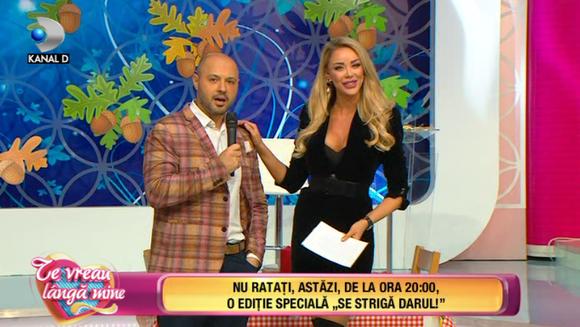 """Andreea Mantea a furat startul si la editia din seara aceasta """"Se striga darul""""! Mihai Mitoseru a venit sa o invite la nunta pe Bianca Dragusanu! Iata ce dezvaluiri inedite a facut de la nunta din Bucovina!"""