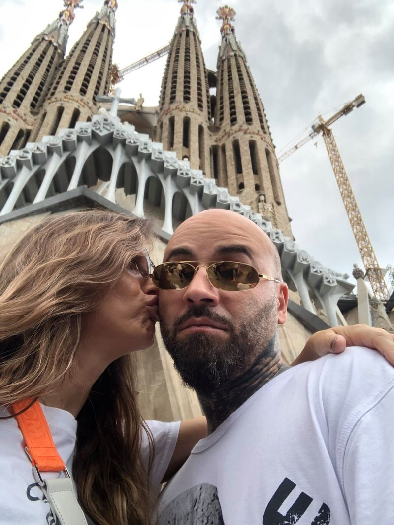 Matteo si soția sa