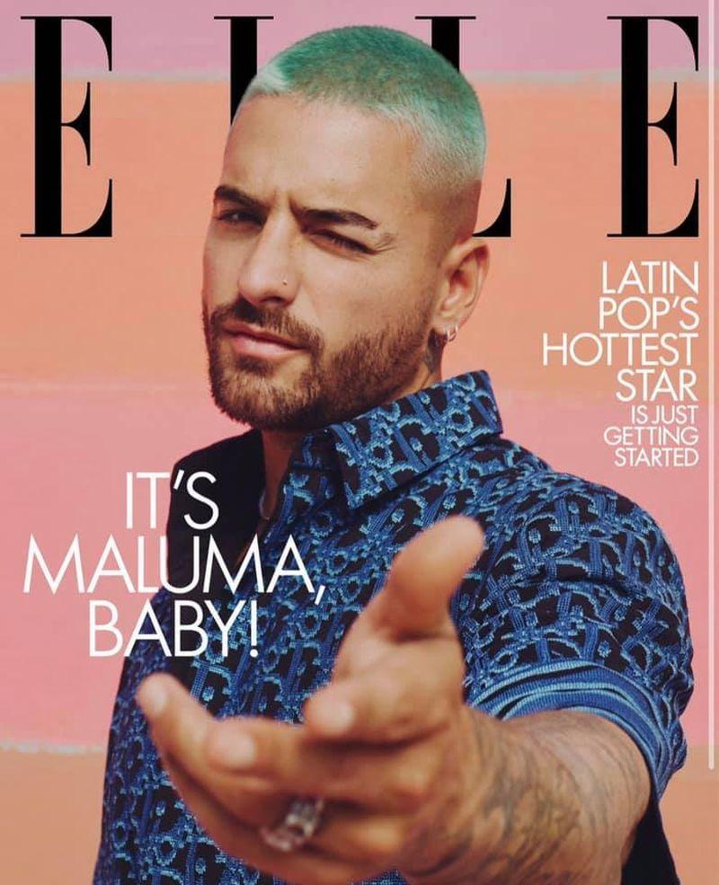Maluma pe coperta revistei Elle