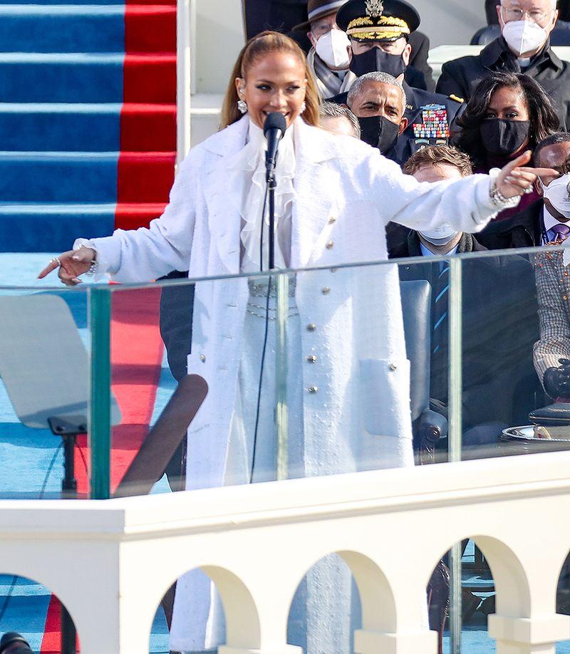 Jennifer Lopez a cântat la ceremonia de învestire a lui Joe Biden