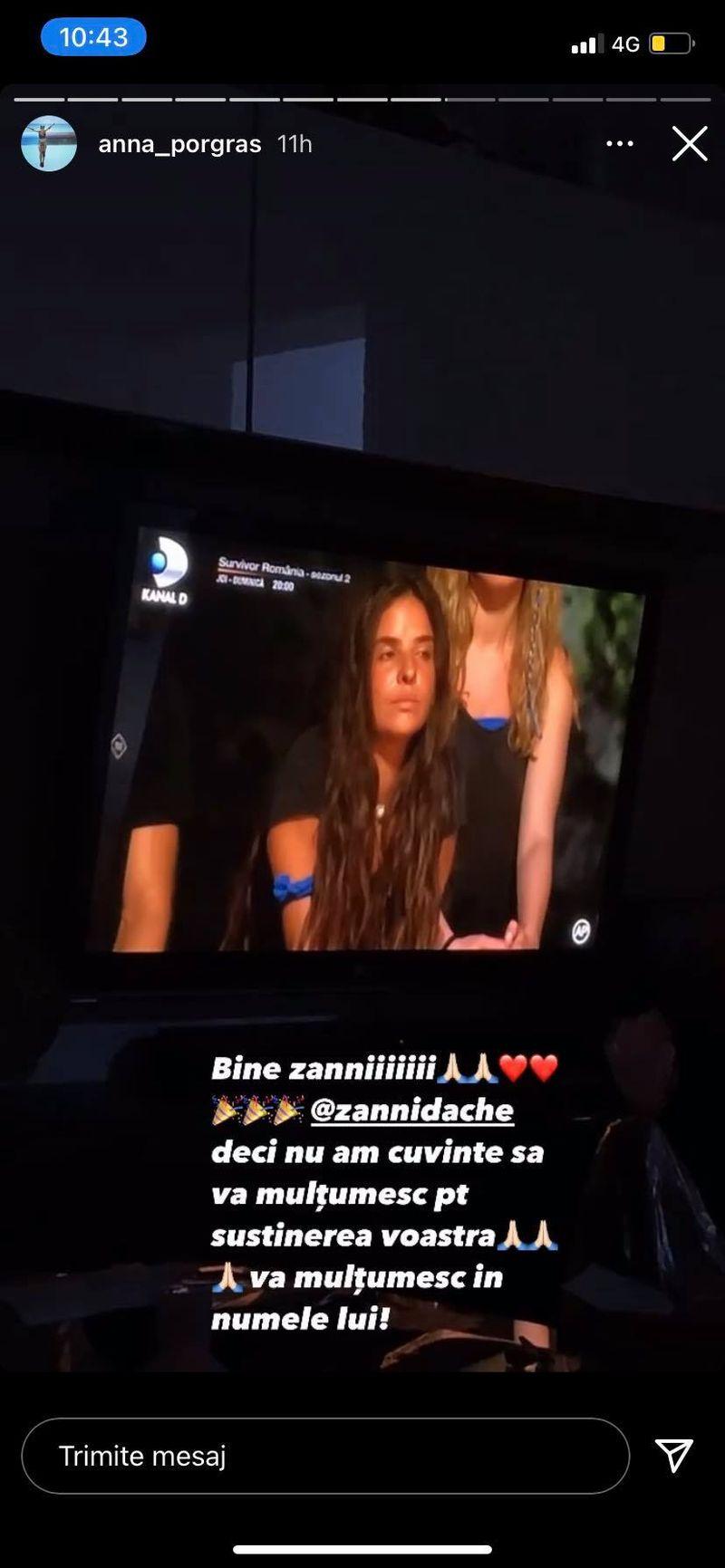 Ana Porgras, emoționată peste măsură după ce Zanni a ieșit favoritul publicului