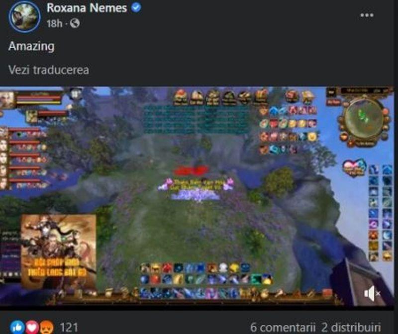 Contul de Facebook al Roxanei Nemeș a fost spart
