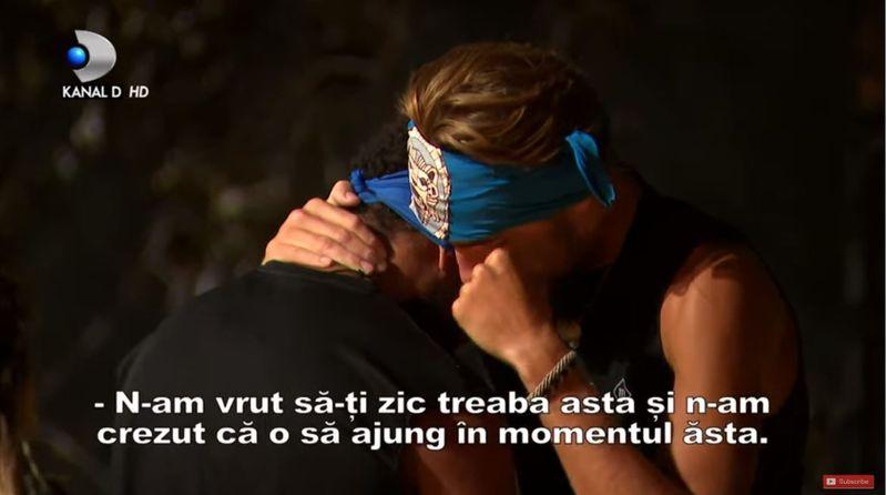 """Ce i-a șoptit la ureche Andrei lui Starlin înainte de a părăsi competiția Survivor România: """"Tu ai fost motivul"""""""