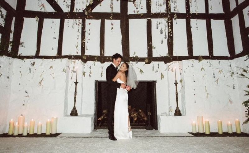 Ariana Grande, primele imagini de la nunta