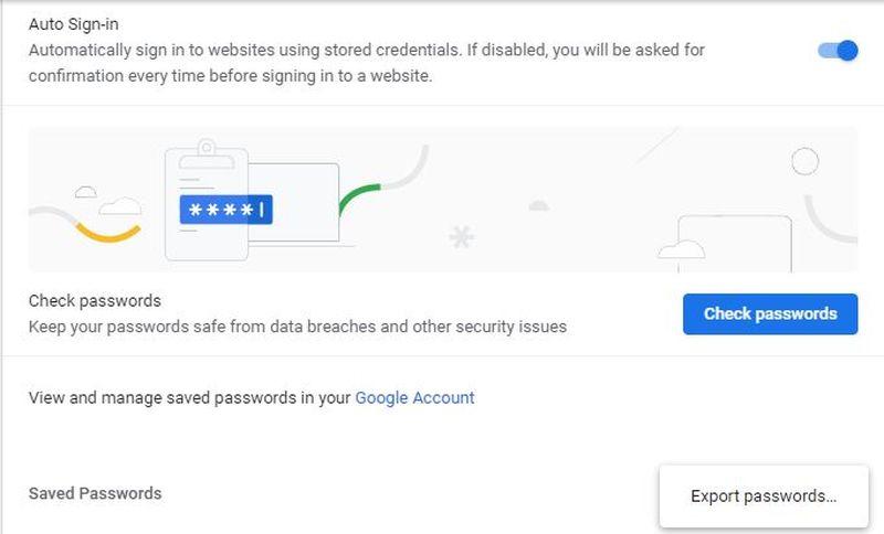 Cum poți să ștergi sau să exporți parolele salvate în Chrome