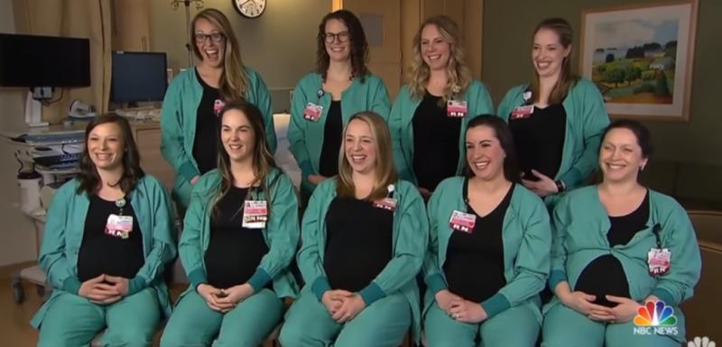 Nouă asistente dintr-o secție au rămas gravide simultan
