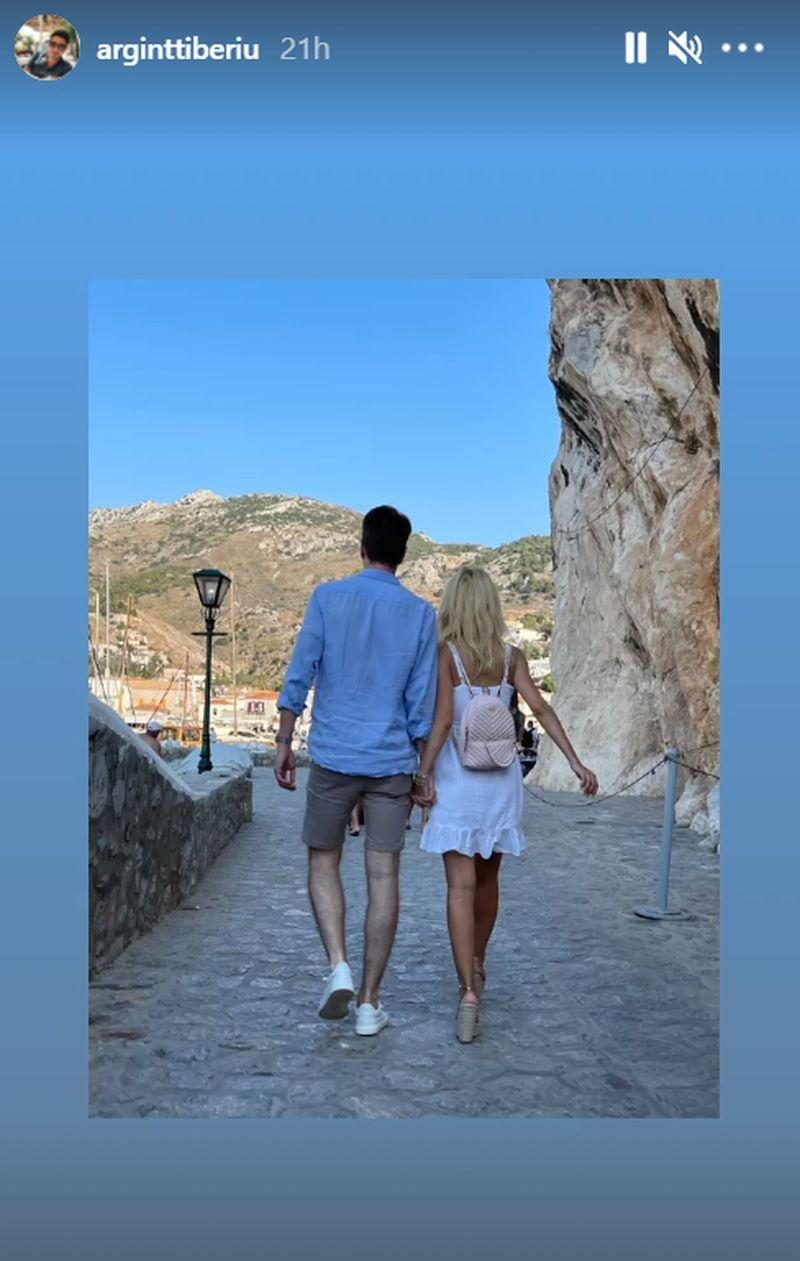 Andreea Bălan, prima fotografie alături de Tiberiu Argint! Cei doi sunt în vacanță în Grecia