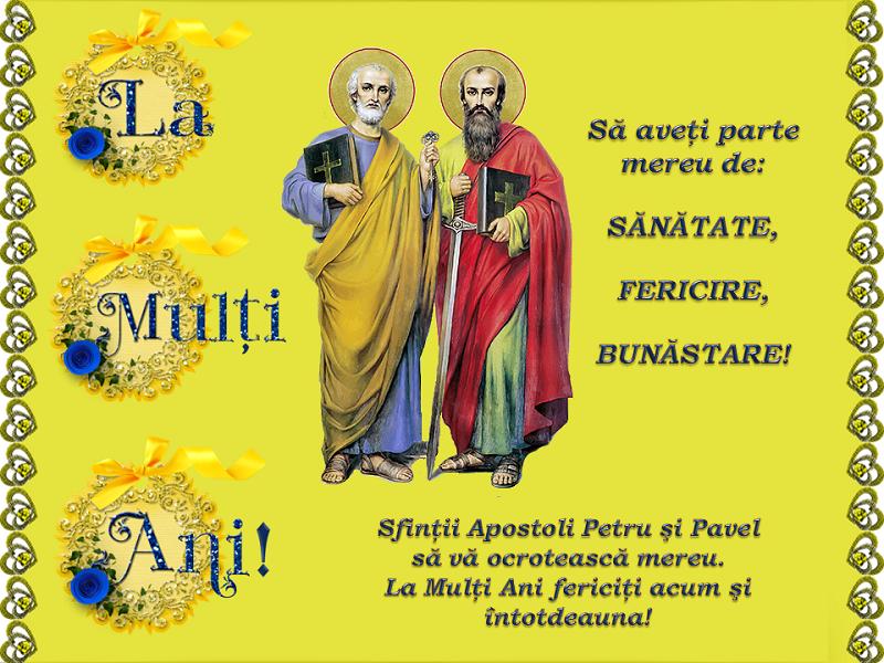 Cele mai frumoase mesaje și urări pentru Sfinţii Petru și Pavel. La mulţi ani în imagini. FOTO