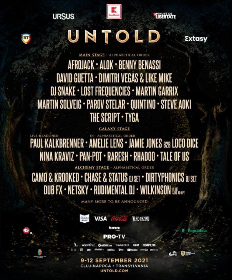 Untold a anunțat o parte din artiștii care vor urca pe scenele din Cluj!