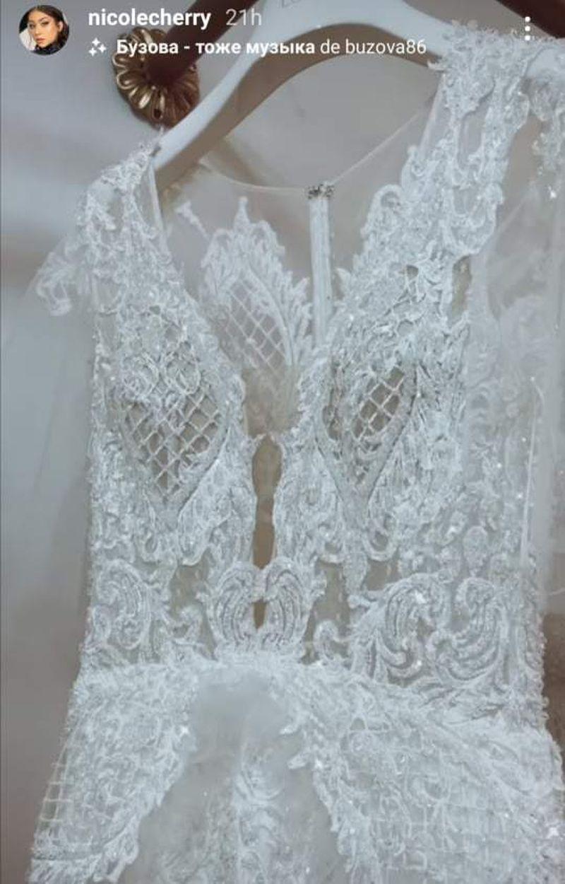 Nicole Cherry, primele imagini cu rochia de mireasă