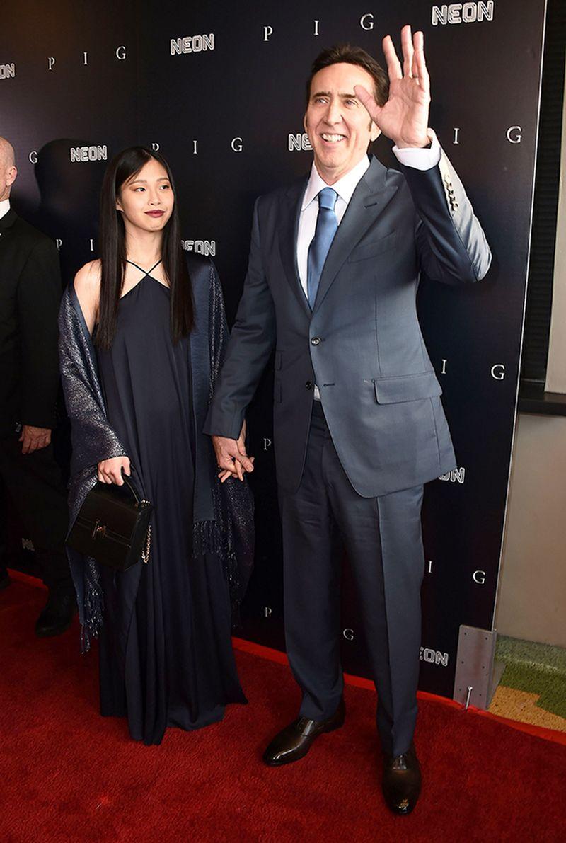 Actorul Nicolas Cage, prima apariție cu cea de cincea soție, Riko Shibata, pe covorul roșu