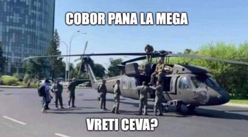 Avalanşă de glume şi meme-uri în mediul online după ce elicopterul armatei americane a aterizat forțat
