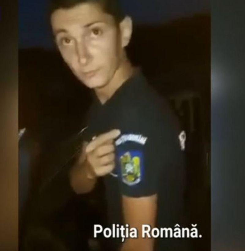 Polițist fals, prins de autoritățile din Timiș după ce a fost filmat de un grup de tineri