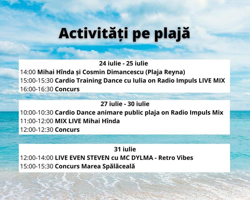 Radio Impuls mută distracția la mare! Vino să te distrezi alături de noi pe plaja Reyna din Constanța