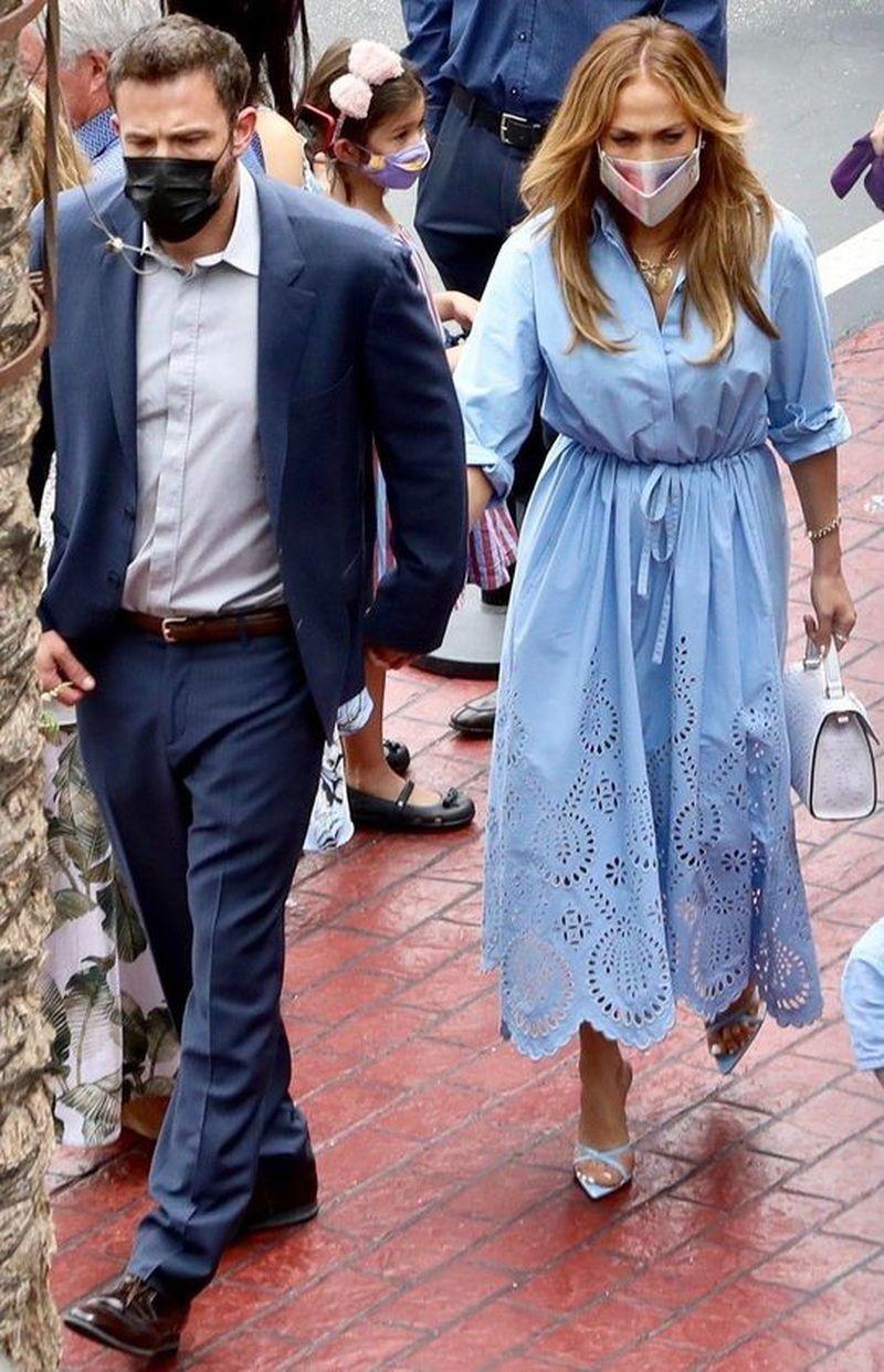 Jennifer Lopez și Ben Affleck, ieșire în familie alături de copii.