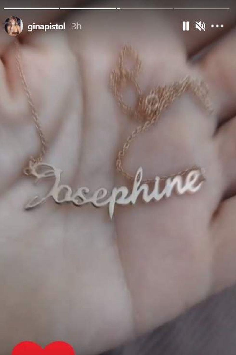 Gina Pistol, cadou inedit pentru micuța Josephine