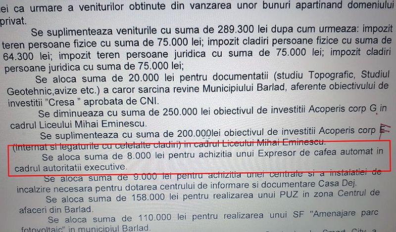 Dimineața Nebună | Prea săraci ca să ne luăm lucruri ieftine. Primarul din Bârlad a cumpărat un expresor de cafea de 8.000 de lei